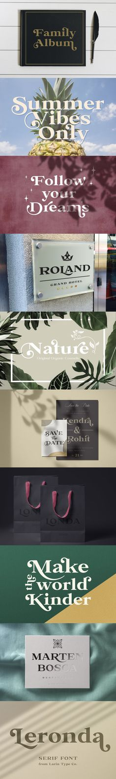 Leronda is an awesome font that can look austere and classic or vintage and softer and more pliable thanks to alternatives. They will add charisma, diversity to Best Serif Fonts, International Symbols, Uppercase And Lowercase, Family Album, Create A Logo, Cool Fonts, Summer Vibes, Thankful, Branding