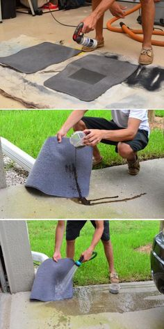 Try using NeverWet on your car floor mats to keep rainwater, mud, and stains away