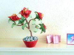 Bonsai Origami Peony Flower