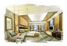 Home Decoration Accessories Ltd Interior Design Renderings, Interior Rendering, Interior Sketch, Home Interior Design, Interior Styling, Interior Architecture, House Design Drawing, Sketch Design, Hotel Floor Plan