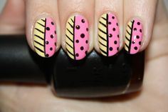 Pink Lemonade nail art by Polish You Pretty! Click the photo to see the full tutorial.