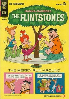 Cover for The Flintstones (Western, 1962 series) Vintage Comic Books, Vintage Cartoon, Vintage Comics, Flintstone Cartoon, Fred Flintstone, Pebbles Flintstone, Old School Cartoons, Cool Cartoons, Children's Comics