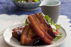 The juicy and sticky pork belly is helped along by a caramel sauce that gets its flavours from a simple Chinese master stock. Wine Recipes, Asian Recipes, Chinese Recipes, Chinese Food, Sticky Pork, Pork Belly Recipes, Pork Bacon, Caramel Recipes, Food Inspiration