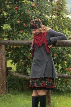 Tunika Winterkleid Merinowolle grau   Etsy