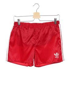 Rare Vintage 80s ADIDAS SAMPDORIA  Shiny Nylon Red  Shorts Size XS D164 by VapeoVintage on Etsy