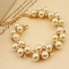 Gold plated pearls bracelet