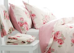 I am so happy every day I nestle between these sheets - Couture Rose, Laura Ashley