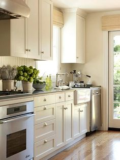 Keep It Current for a new look a few years from now, just change your cabinet hardware and your window treatments. A different backsplash might add a different look in a few years when the current white trend is old news.