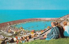 David Wall's favourite view of the Boating Pool, source unknown. Canoes and rowing boats on the left, motorboats on the right Winter Garden Blackpool, Blackpool Promenade, Blackpool Pleasure Beach, Blackpool England, Go Kart Tracks, British Holidays, Beautiful Castles, North Shore, Old Pictures