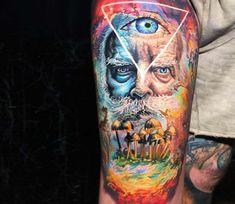Full colors tattoo by Steve Butcher