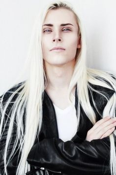 Hair styles men long models 60 ideas for 2019 Beautiful Men, Beautiful People, Ai No Kusabi, Long White Hair, White Blonde, Yennefer Of Vengerberg, Androgynous, Pretty People, Character Inspiration