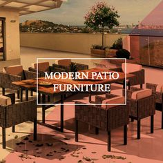 Modern Patio Furniture For Your Outdoor Escape Cast Aluminum Patio Furniture, Teak Garden Furniture, Contemporary Patio, Modern Patio, Outdoor Grill Island, Outdoor Wood Burning Fireplace, Beach Sofa, Patio Bar Set, Patio Wall