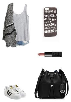 """""""Untitled #1914"""" by ihavepashion-forfashion ❤ liked on Polyvore featuring One Teaspoon, H&M, MICHAEL Michael Kors, adidas Originals, NARS Cosmetics and JFR"""