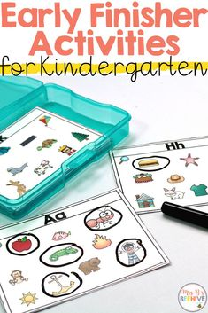 Kindergarten Early Finisher Task Cards - October Give your students early finisher activities that are engaging and educational. These task cards are meant to be done independently to help free up your teacher time for those students who need assistance! Early Finishers Kindergarten, Early Finishers Activities, Morning Activities, Kindergarten Centers, Kindergarten Classroom, Kindergarten Reading Activities, Autism Activities, Classroom Setup, Literacy Centers