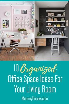 Home Office Decor Ideas for Living Room Office - Organized Home Office - 10 Smart Ways To Decorate Your Home Office Home Office Organization, Home Office Decor, Small Space Organization, Office Ideas, Home Decor, Declutter Your Home, Organizing Your Home, Organization Ideas, Creative Office Space
