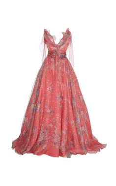 Luisa Beccaria Floral Print Ball Gown ColorPink €13.680