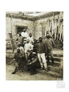 Officers of Galliano Battalion in Agordat, Eritrea, 1894, Italian Colonialism in East Africa Giclee Print at Art.co.uk