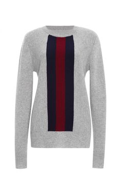 Alfie Vertical Stripe Sweater In Grey by Kule - Moda Operandi