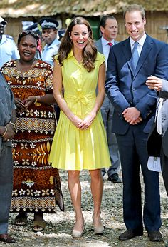 Catherine, Duchess of Cambridge and Prince William, Duke of Cambridge visit a cultural village on their Diamond Jubilee tour of the Far East on Sept. 17, 2012 in Honiara, Guadalcanal Island.