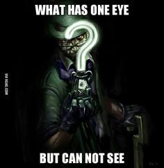 Riddle riddle of the clever Riddler