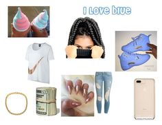"""""""i love blue"""" by nayla-thomas on Polyvore featuring beauty, Frame and NIKE"""