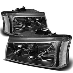 Chevy SilveradoAvalanche 1st Gen Headlight Lamps with Clear Corner Black Housing ** Find out more about the great product at the affiliate link Amazon.com on image.