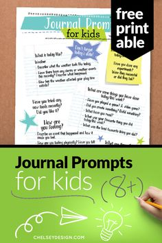 Help kids write with these journal ideas! A free printable designed just for kids to help them write about their thoughts and feelings. Kids Writing, Start Writing, Help Teaching, Teaching Ideas, Handwritten Letters, Kids Prints, Thoughts And Feelings, Kids House, Journal Ideas