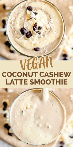 Vanilla Coconut Cashew Latte Smoothie | vegan, thick and creamy, high in protein and healthy fats plus tastes so decadent it's hard to believe it's healthy.