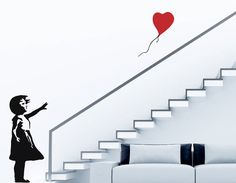Banksy Girl with Red Balloon Vinyl Wall Decal
