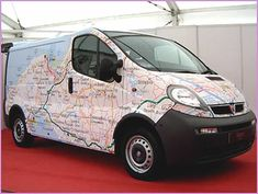 Map vehicle wrap 