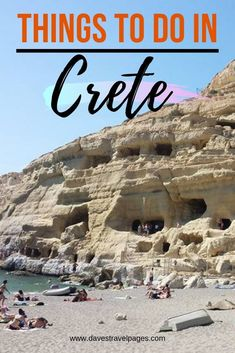 Crete Greece Things To Do: Start planning your trip to the Greek island of Crete with these top things to do. Picture shown is the Matala Caves - Does it remind you of the Flintstones? Travel Tips Travel Hacks packing tour Voyage Europe, Europe Travel Guide, Travel Guides, Travel Trip, Travel Goals, Travel Hacks, Travel Packing, Solo Travel, Budget Travel