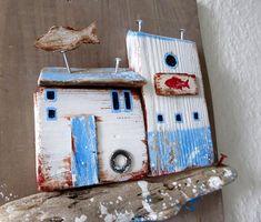 Wanddeko - Fischladen aus Treibholz - ein Designerstück von Devil-in-the-beet-field bei DaWanda