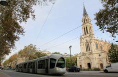 Tranvía en Lyon, Francia.
