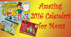 2016 Mom Organizing Calendars She Would Love! | Wonderful Gifts for Wonderful People #Calendars #Organizing #Mom