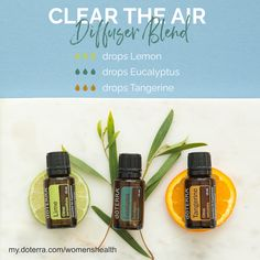 This unique diffuser blend provides you with a sense of clear air and light fresh smells. Go ahead and give it a try!    my.doterra.com/womenshealth