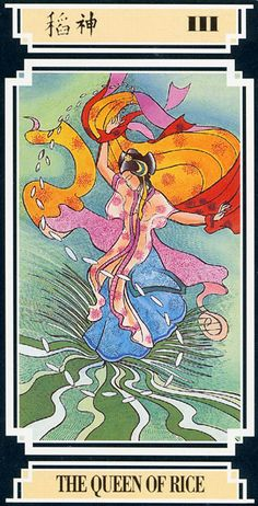 The Queen of Rice (The Empress) - Golden Dragon Tarot
