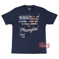 Camiseta Masculina Azul Marinho Regular Fit - Wrangler 676.WB.69.40: Homens