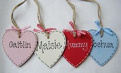 Personalised Heart Shaped Wooden Gift Tag £3.50