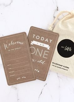 My Little - Baby Milestone Cards in Natural