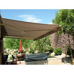 ALEKOR 12x10 Feet Retractable Patio Awning SAND COLOR 35m X 3m