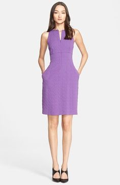 Armani Collezioni Front Zip Quilted Jacquard Sheath Dress available at #Nordstrom