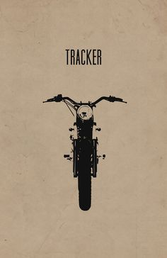 Tracker Motorcycle Print by InkedIron on Etsy