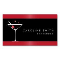 269 best bartender business cards images on pinterest baristas modern elegant martini cocktail glass bartender business card reheart Image collections