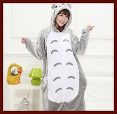 Totoro Pyjamas women Onesies for adults Flannel Animal pajamas Totoro sleepwear femmei/mujer pijamas enteros de animales