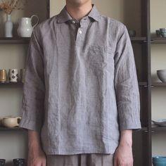 jujudhau - 3/4 Pullover Shirt #linen chambray