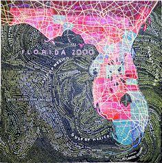 Paula Scher map of Florida