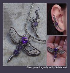 Steampunk dragonfly set by bodaszilvia.deviantart.com on @deviantART