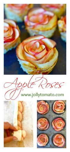 Apple Roses: A pretty dessert made from thinly sliced apples rolled up in puff pastry. #StreamTeam