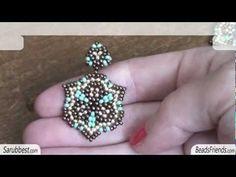 Peyote Stitch Earrings: turquoise bead earrings - circular peyote stitch | Beaded Jewelry http://www.sararmoniasara.com .____. http://www.beadsfriends.com Facebook ------°°°° http://www.facebook.com/BeadsFriends To contact me, send an email to sara@beadsfriends.com