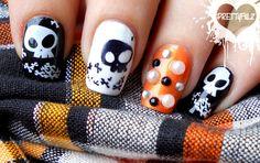 Halloween Nail Art & Tutorial !!